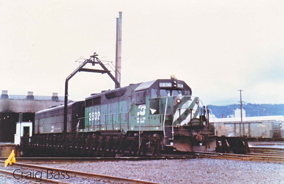 Back in the day, Burlington Northern had a round house and a yard in Portland near Union Station.