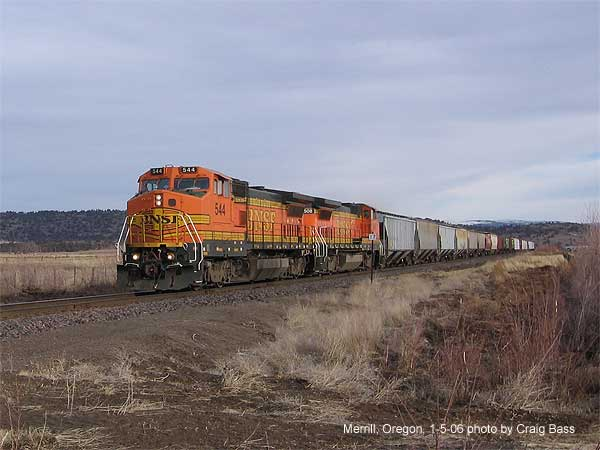 Northbound at Malone Road, Merrill, Oregon