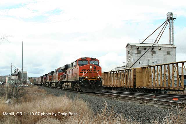 Southbound coming through Merrill, Oregon