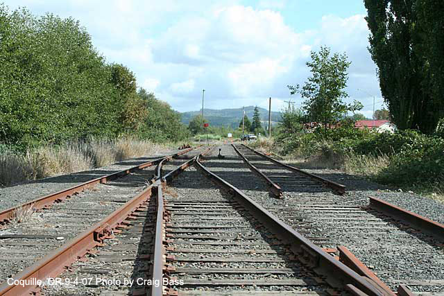 End of track in Coquille, Oregon
