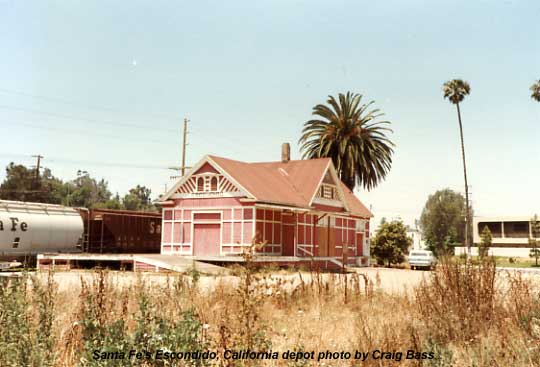 Santa Fe depot in Escondido.  It has since been moved to Grape Day Park in central Escondido