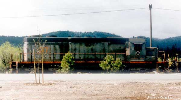 April 1996 in Mt. Shasta, SD38 number 37 is in need of a new coat of paint.