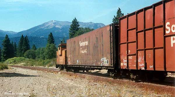 As an interesting aside, trains would back down the grade into town caboose-first, having switched directions at the switchback between McCloud and Mt. Shasta.
