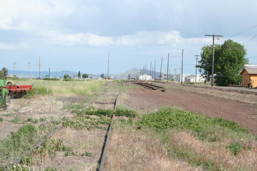 Union Pacific has removed some of the tracks at Tulelake which the MNRR used as their main yard.