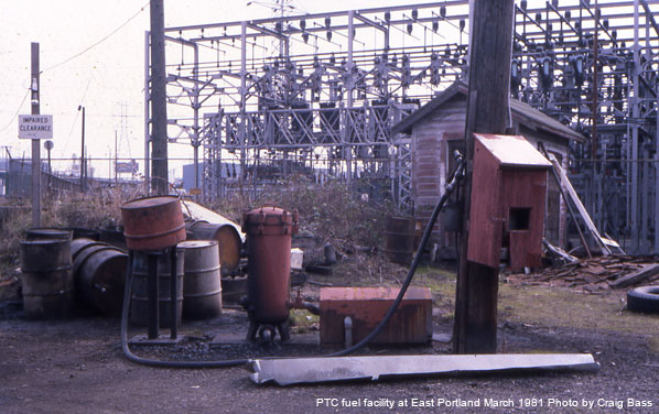 Nothing extravagant about PTC's 1981 fuel dock at East Portland Yard - it was a simpler time!