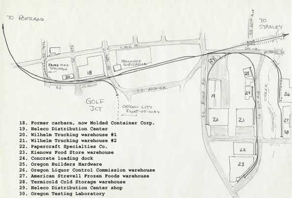 Map of the Golf Jct/Sellwood area as it existed then