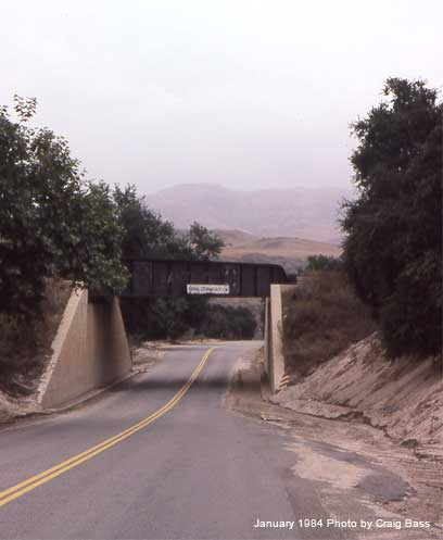 The plate girder span over Temescal Canyon Road is long gone now.