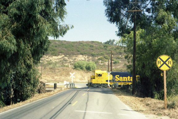 Westbound at Valpreda Road San Marcos, heading back to Oceanside